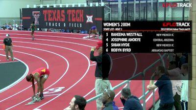 Women's 200m, Round 2 Heat 2