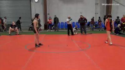 95 lbs Final - Abby Naddeo, Lakeland vs Jocelyn Danbe, Red Nose