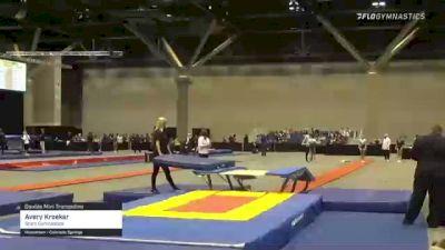 Avery Kroeker - Double Mini Trampoline, Stars Gymnastics - 2021 USA Gymnastics Championships