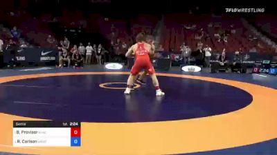 82 kg Semis - Ben Provisor, New York Athletic Club vs Richard Carlson, Minnesota Storm
