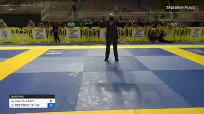 JOSHUA DUVIEL LEON vs DAVID PRESTON CRONE 2021 Pan Kids Jiu-Jitsu IBJJF Championship