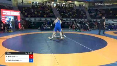 125 kg Semifinal - Steven Kolcheff, Tiger Style Wrestling Club vs Joshua Heindselman, Oklahoma Regional Training Center