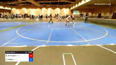 74 kg Consolation - Brinton Simington, Pennsylvania vs Daniel Patten, Cleveland Regional Training Center