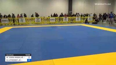 MATHEUS VIANA MAGALHÃES vs DENNIS A PRESSEY JR 2020 IBJJF Pan No-Gi Championship