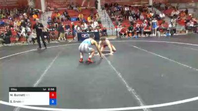 65 kg Prelims - Michael Burnett, Pittsburgh Wrestling Club vs Saul Ervin, Kentucky