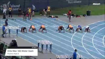 Professional Men's 100m Elite, Prelims 2
