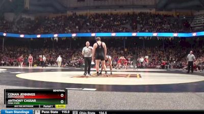 285 lbs Semifinal - Conan Jennings, Northwestern vs Anthony Cassar, Penn State