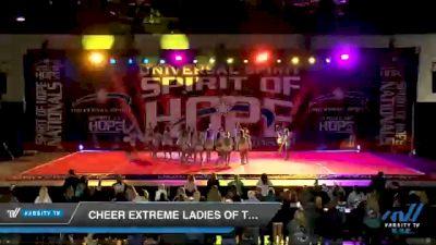 Cheer Extreme Ladies of Teal [2021 International Open 6 Day 1] 2021 Universal Spirit: Spirit of Hope National Championship