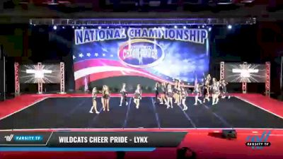 Wildcats Cheer Pride - Lynx [2021 L2 Senior Day 2] 2021 ACP: Midwest World Bid National Championship