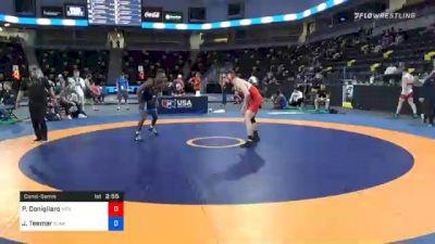 74 kg Consolation - Philip Conigliaro, New England Regional Training Center vs Jacori Teemer, Sunkist Kids Wrestling Club