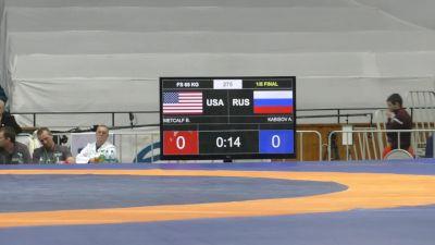 65kg r2, Brent Metcalf, USA vs Kabisov, Russia