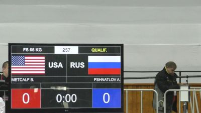 65kg r1, Brent Metcalf, USA vs Pshnatlov, Russia