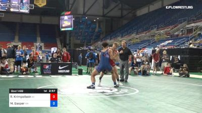 195 lbs Cons 16 #2 - Ryan Krimpelbein, Wisconsin vs Michael Gasper, Washington