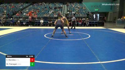 165 lbs Quarterfinal - Casey Randles, Wyoming vs Macoy Flanagan, Northern Colorado