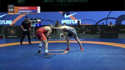 86 kg Match - Zahid Valencia, USA vs Sebastian Jezierzanski, POL