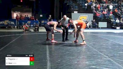 197 lbs Consolation - Jordan Pagano, Rutgers vs Dakota Geer, Oklahoma State