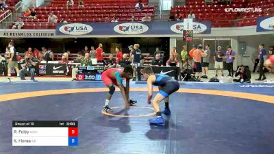 57 kg Round Of 16 - Rayvon Foley, Michigan State RTC vs Sidney Flores, Air Force Regional Training Center