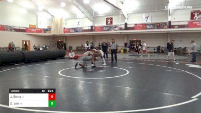 220 lbs Final - Jayden Bortz, QT vs Davis Lee, NB