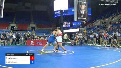 285 lbs Cons 8 #1 - Ryan Johnson, Texas vs Colton Kinnison, Iowa
