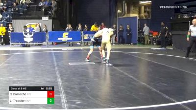 125 lbs Consolation - Colton Camacho, Pittsburgh vs Logan Treaster, Navy