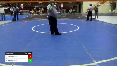 152 lbs 3rd Place - Dylan Straley, Inwtc vs Riley Benson, Black Hills Academy