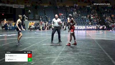 141 lbs Consolation - Tariq Wilson, NC State vs Cody Trybus, Navy