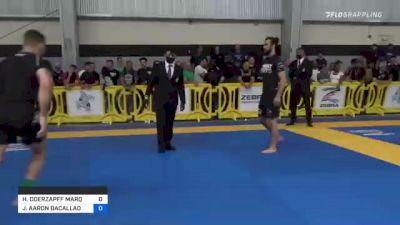 HUGO DOERZAPFF MARQUES vs JOSHUA AARON BACALLAO 2021 Pan IBJJF Jiu-Jitsu No-Gi Championship