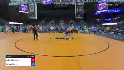 195 lbs Quarterfinal - John Gunderson, Wisconsin vs Wyatt Voelker, Iowa