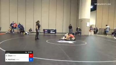 53 kg Consolation - Emalie Olson, Greater Heights Wrestling vs Alleida Martinez, Tmwc