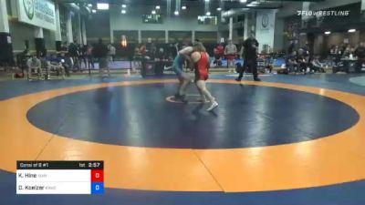 67 kg Consolation - Kaden Hine, Idaho Grizz Wrestling Club vs Dallas Koelzer, Kansas