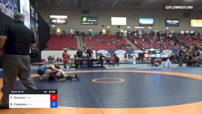 65 kg Cons 16 #1 - Denton Spencer, Cavalier Wrestling Club vs Ben Freeman, Michigan