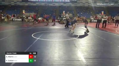 145 lbs Quarterfinal - Alek Martin, Jacked Rabbits vs Kyle Dutton, Missouri United