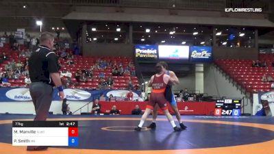 77 kg Semis - Mason Manville, Nittany Lion Wrestling Club vs Patrick Smith, Minnesota Storm