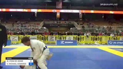 MICHAEL RYAN MC ADAM vs CARL MICHAEL EDWARDS 2021 Pan Jiu-Jitsu IBJJF Championship
