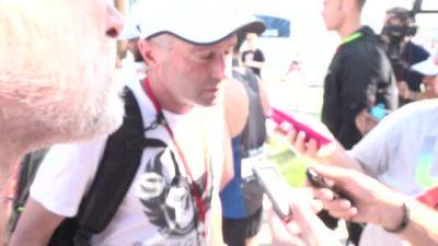 Alberto Salazar after Galen Rupp's win at the 2016 US Olympic Marathon Trials