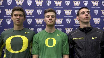 Blake Haney, Grant Grosvenor, Sam Prakel after qualifying DMR to NCAAs