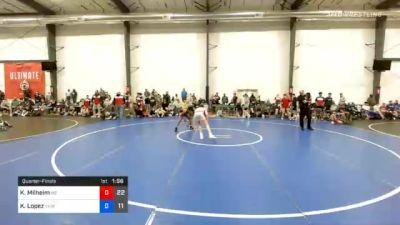 54 kg Quarterfinal - Kaden Milheim, M2 Black vs Kevin Lopez, VHW