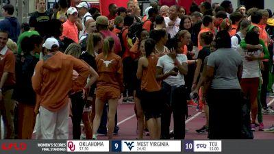 Texas Coach Mario Satenga after Texas women victory, men's drama at Big 12 Championship