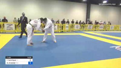 Flavio Henrique vs Matthew Kramer 2020 Atlanta International Open IBJJF Jiu-Jitsu Championship