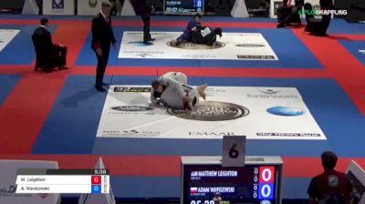 Matthew Leighton vs Adam Wardzinski 2018 Abu Dhabi World Professional Jiu-Jitsu Championship