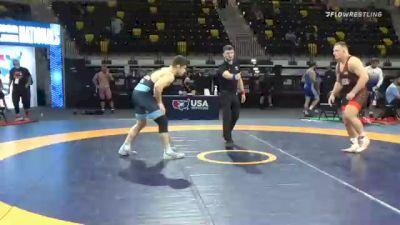 125 kg Quarterfinal - Christian Lance, Nebraska Wrestling Training Center vs Lucas Davison, TMWC/ Wildcat Wrestling Club