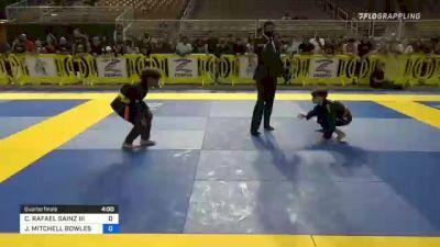 CARLOS RAFAEL SAINZ III vs JAIDEN MITCHELL BOWLES 2021 Pan Kids Jiu-Jitsu IBJJF Championship