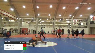 5th Place - Tony Negron, Unattached vs Connor Brady, VT Unattached