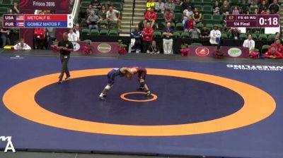 65 1/4 Final - Brent Harold METCALF, United States vs Franklin GOMEZ MATOS, Puerto Rico