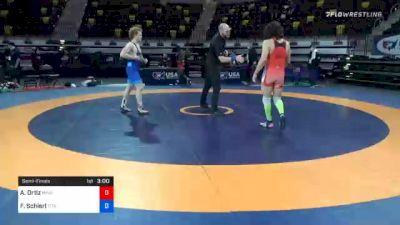 77 kg Semifinal - Alec Ortiz, Minnesota Storm vs Fritz Schierl, Titan Mercury Wrestling Club (TMWC)