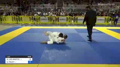 NOAH LEE MARTIN vs SEAN FOLEY 2021 Pan Kids Jiu-Jitsu IBJJF Championship
