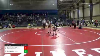 70 lbs 3rd Place - Joseph Brumbelow IV, South Paulding Junior Spartans vs Tyler McCleskey, Social Circle USA Takedown