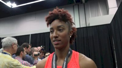 Brianna Rollins after 60m hurdle victory at USA Indoors