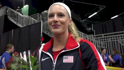 Sandi Morris after earning the silver medal at World Indoors