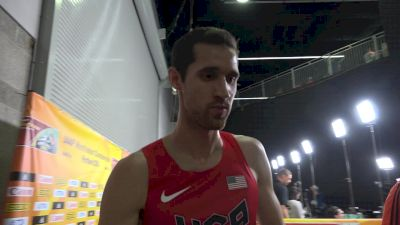 Ryan Hill after making the final of the 3K at World Indoors